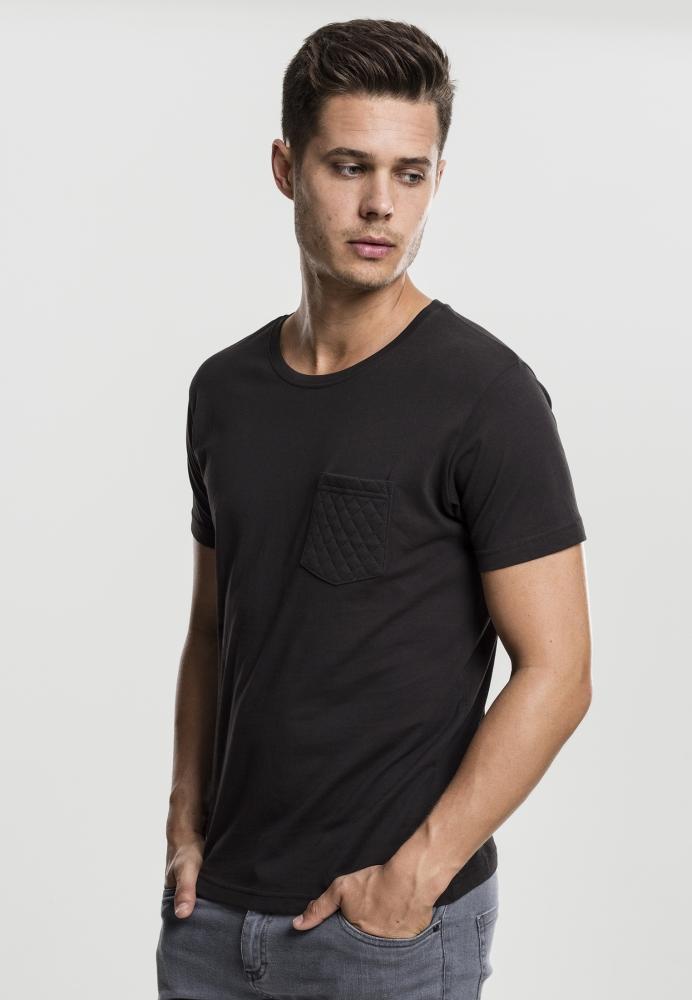 Tricou cu buzunar negru-negru Urban Classics